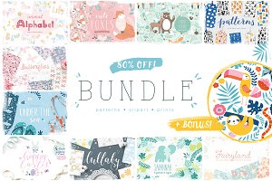 80% OFF Patterns & Clip art BUNDLE