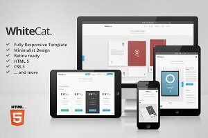 [-40%] WhiteCat HTML5 Site Template