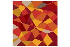 Carnelian Red Abstract Low Polygon B