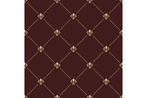 Seamless Vector Pattern With Golden