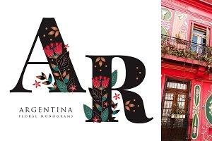 Argentina Floral Monograms