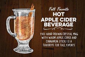 Hot Apple Cider Beverage in Mug