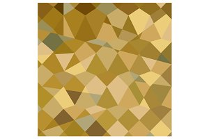 Drab Brown Abstract Low Polygon Back
