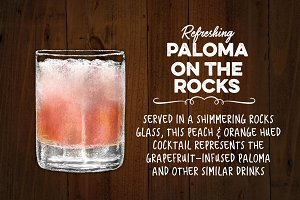 Grapefruit Paloma Cocktail on Rocks