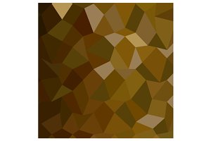 Olive Drab Abstract Low Polygon Back