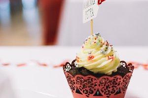 Sweet cupcake on a wedding