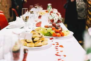 Fruit plate on a wedding celebration