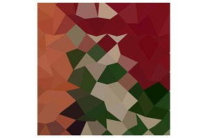 Orange Red Abstract Low Polygon Back