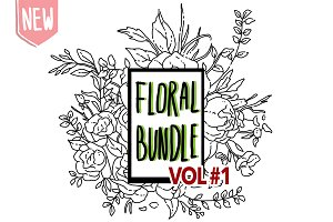 DIY Bundle Floral Lineart Edition