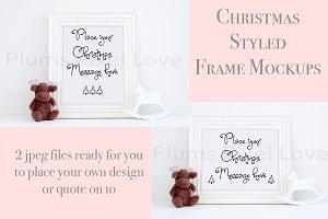 2 Christmas styled frame mockups