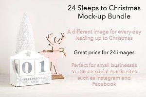 24 Christmas styled mockup images