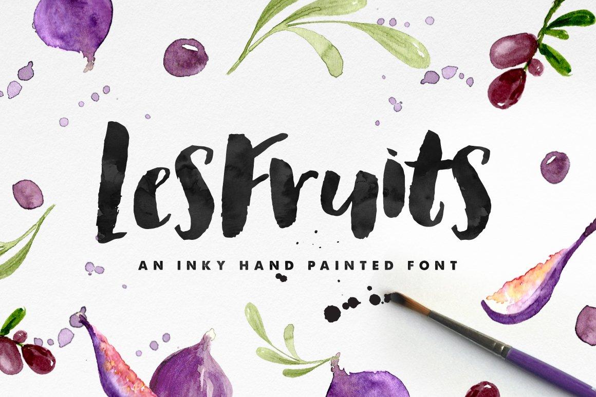 les fruits brush font display fonts creative market