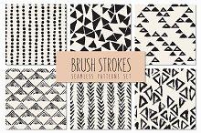 Brush Strokes. Seamless Patterns v.4