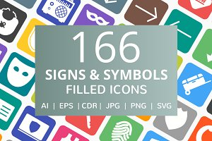 166 Signs & Symbols Filled Icon