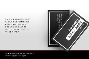 Black Minimalistic Business Cards