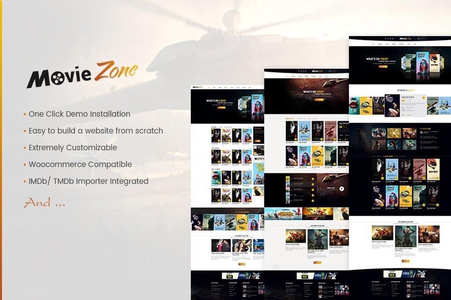 MovieZone - Movie, Cinema WP Theme