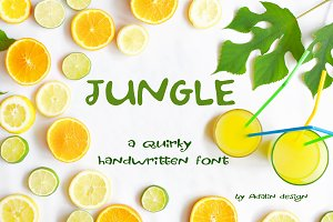 Fun handwritten font, Jungle