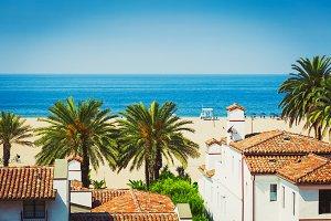 Santa Monica in sunny day