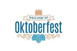 Oktoberfest vintage lettering