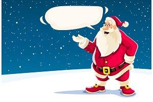 Christmas Santa Claus speaking