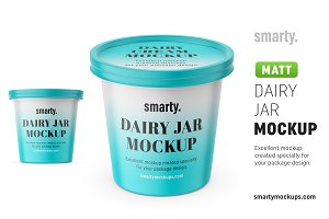 Dairy jar mockups