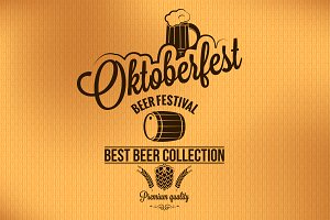 Oktoberfest vintage poster vector