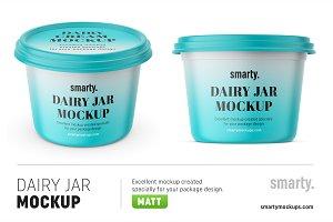Dairy jars mockup