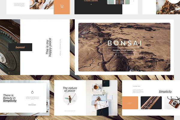 Presentation Templates: Angkalimabelas - Bonsai PowerPoint Template