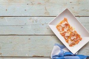 Carpaccio salmon with parmesan