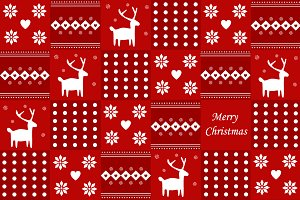 Christmas scandinavian backgraund