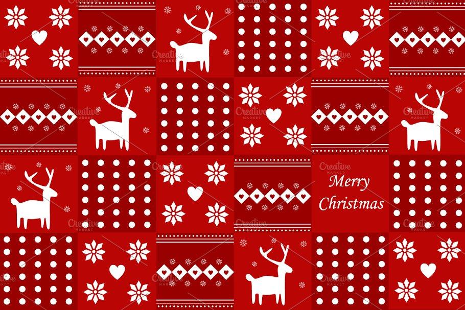 Christmas scandinavian backgraund
