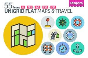 UniGrid Flat Maps & Travel