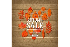 Hello Autumn. Sale banner