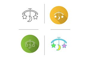 Baby bed carousel icon