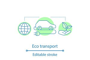 Eco transport concept icon