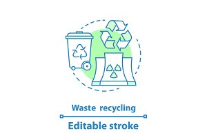 Waste recycling concept icon
