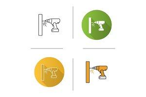 Cordless drill icon