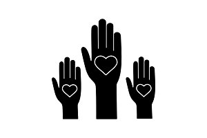 Unity in diversity glyph icon