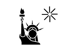 The Statue of Liberty glyph icon