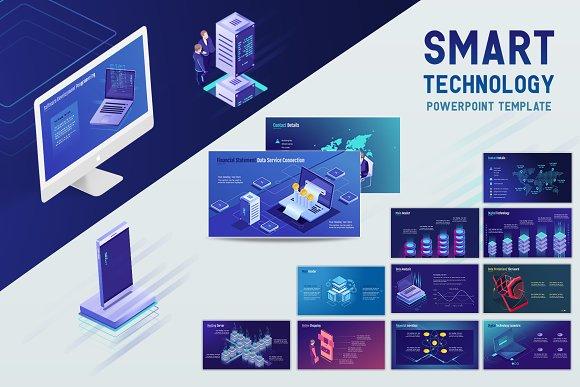 smart technology powerpoint template presentation templates