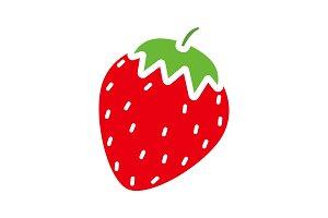 Strawberry glyph color icon