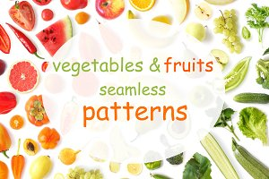 patterns of vegetables and fruits