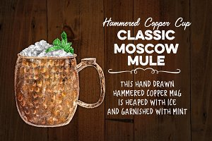 Moscow Mule in Hammered Copper Mug