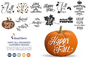 Happy Fall - Thanksgiving SVG Bundle