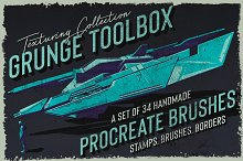 Grunge Toolbox Procreate Brushes by  in Brushes