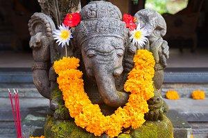 Traditional Balinese Ganesha statue