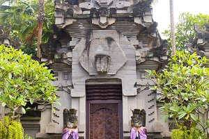 Traditional Balinese statue protecti
