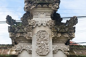 Traditional Balinese small temple pr