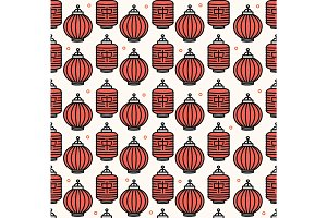 Chinese Traditional Lanterns Pattern
