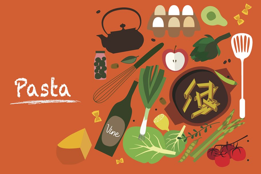 Pasta / clipart (png)